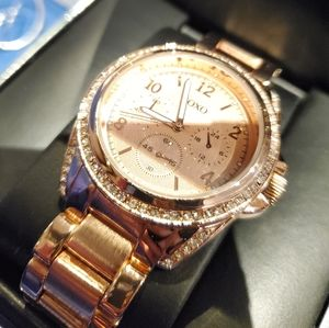 NEW IN BOX XOXO Rose Gold Crystal Watch